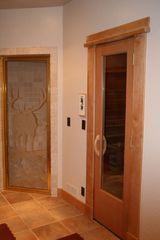 Sundance cabin photo - Steam Room (left) ~ Dry Sauna (right) ~ Glass Block Dual Head Shower (not shown)