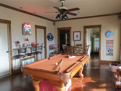 Downstairs...Pool and Game Table