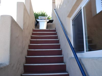 Stairs leading up to the Casita!