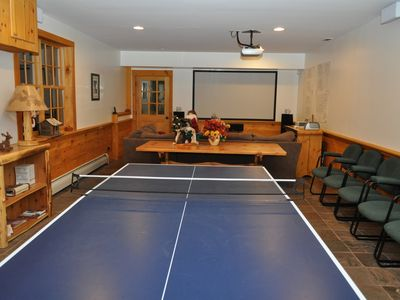 Two game rooms with ping pong,foosball,air hockey, video games,pinball and darts