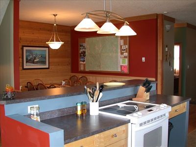 Large well equipped Kitchen and Dining Rm
