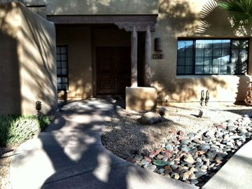Fountain Hills condo rental - Double door front entry from the courtyard. Front patio is to the left.