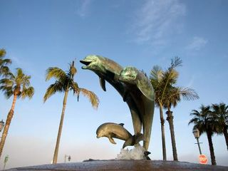 Santa Barbara house photo - The famous dolphin statue by the pier.