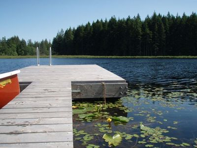 Private dock and Canoe