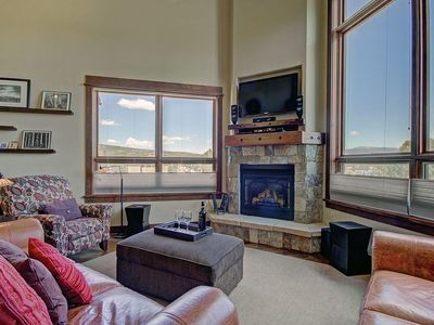 B201 WaterTower Place 3BR 3BA - a SkyRun Summit Property - Stunning Great Room  - Open and spacious great room features gorgeous views, HDTV entertainment center & gas fireplace.