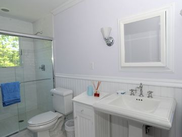 Typical upstairs bathroom