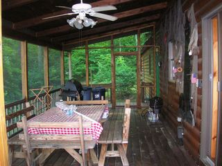 Wolfeboro cabin photo - Full screened porch