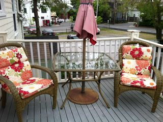Provincetown condo photo - Your semi private deck complete with extra comfy chairs.