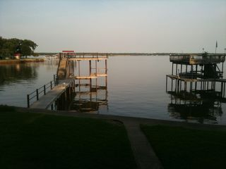 Cedar Creek Lake house photo - Morning view from deck