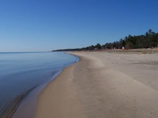 Oscoda house photo - early morning beach
