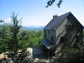 Back of home taken from the ski trail. - Bartlett house vacation rental photo
