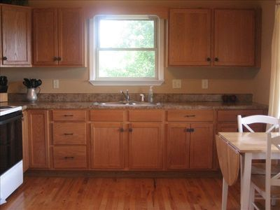 Full Kitchen w/ Range, Stove, Fridge, Coffee Maker, Toaster, & View!