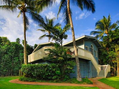 Our home features 3 bedrooms, a large deck, private beach access and parking.