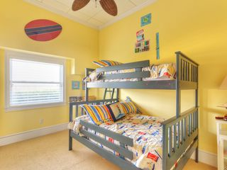 Summer Haven house photo - 1st floor bedroom with double bed & single bed.