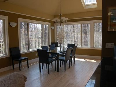 Dining Room with View of Woods