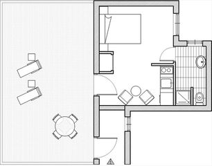 Centro - Plaza Catalunya apartment photo - Blue print