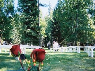 Bigfork cabin photo - Ceremony seating