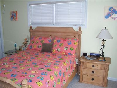 bedroom 1 with queen bed