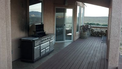 Monster deck with monster grill.