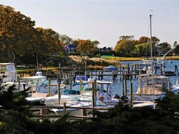 Peconic Marina across the street