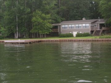 Lake Martin house rental - 160 ft of shoreline! Swim dock plus 2nd dock not shown in this picture.