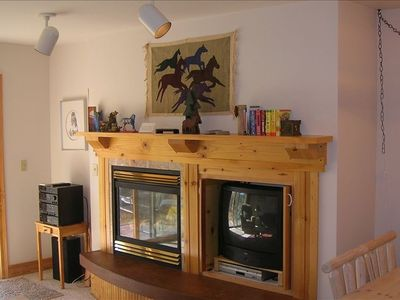 Driggs condo rental - Fireplace - Entertainment Center