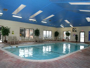 Heated indoor pool open year-round!