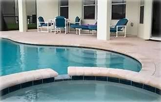 Windsor Hills villa rental - You will love our huge, private screened lanai with pool and spa