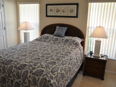 Spacious queen size bedroom with walk in closets