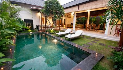 The private pool at the villa