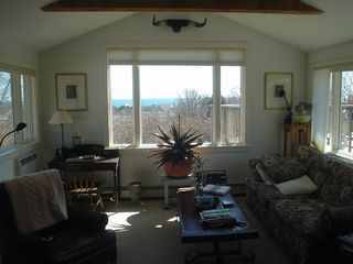 Living room view towards ocean - Montauk house vacation rental photo