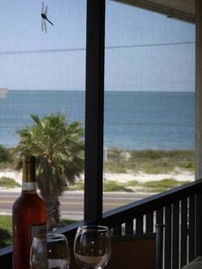 Bradenton Beach condo rental - Listen to the waves and watch the stunning sunset from our private patio