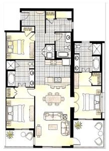 Sun-Filled Floor Plan With Two Gulf Front Master Bedrooms