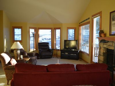 Lots of light in the family room
