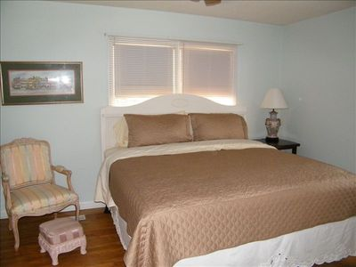 Master bedroom - King size bed with full bath (shower)