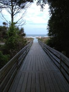 Alder Beach Boardwalk - our beach access area on the north side of Marriott
