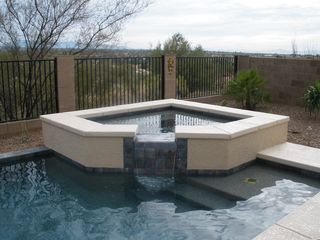 Tucson house photo - Enjoy the spacious spa with powerful jets to relax in at the end of the day.