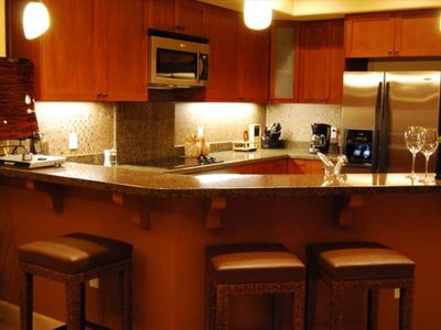 Look into the large kitchen fully equipped with lots of extra surprises!
