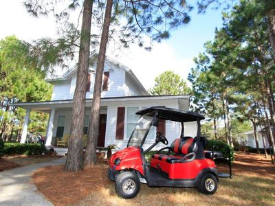 House with Golf Cart