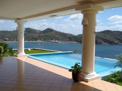 infinity pool with views of Half Moon Bay, San Juan Del Sur & over looking ocean