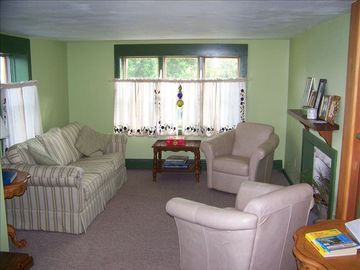 One side of L-shaped living room