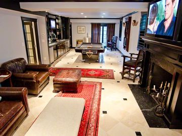 Lower Level Lounge Features Pool Room + Home Theater