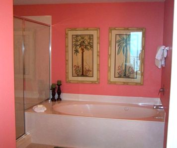 Master Bath with Jacuzzi Tub & Large Shower
