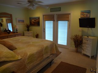 Garden City Beach house photo - Downstairs Master Bedroom with private bathroom