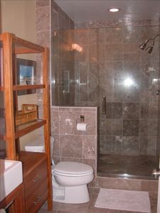 Beautiful marble tile Master Bath