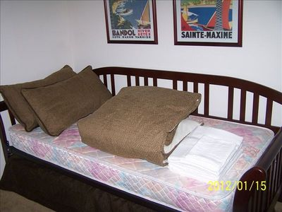 Bedroom 3 with trundle bed.