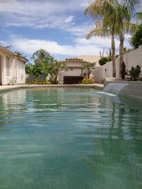 Tempe house rental - Pebble tech pool with water fall, gazebo and hot tub to end an amazing day!