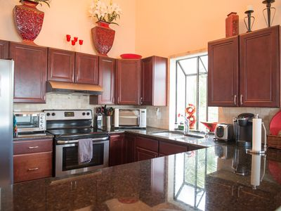 Exclusive, full kitchen with all appliances and granite countertops