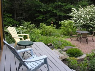 Wiscasset house photo - Patio in early June - enjoy the beauty without mosquitos