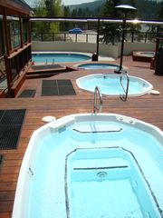 Village at Breckenridge condo photo - New Hot Tubs and pool with mountain and ski area views. Great way to unwind!